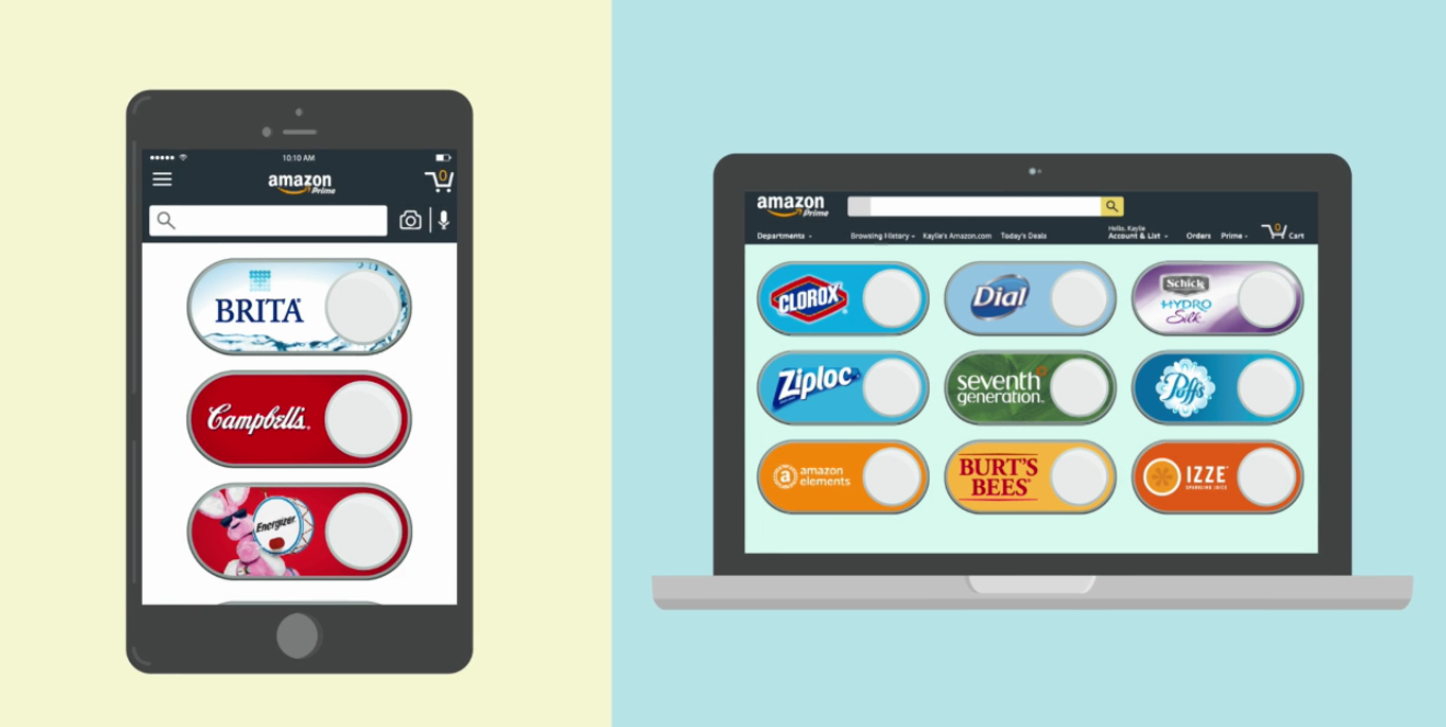 Amazon's Dash Buttons go Digital for One-click Buying From Device