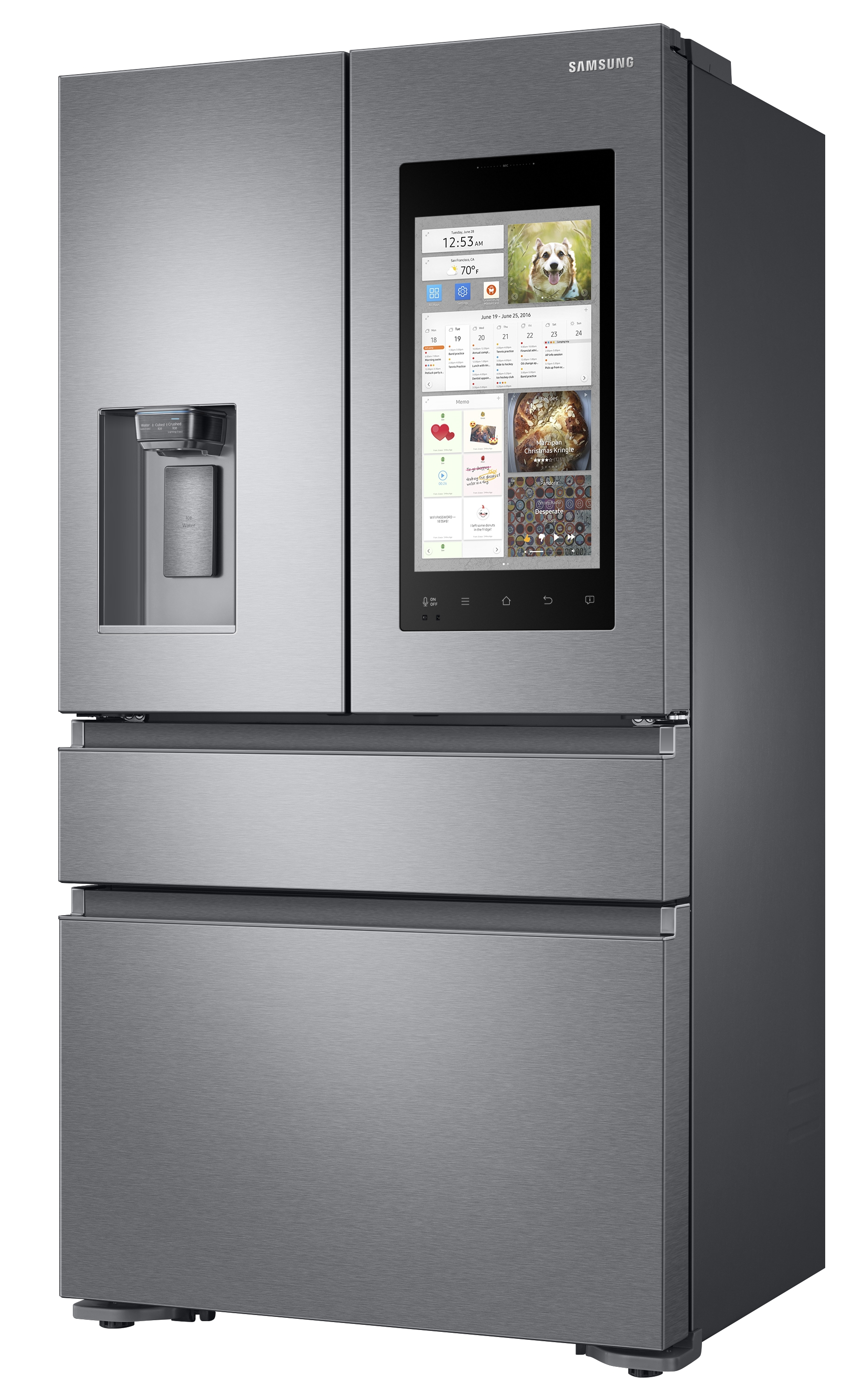 Samsung Unveils Family Hub 2.0 Smart Refrigerators