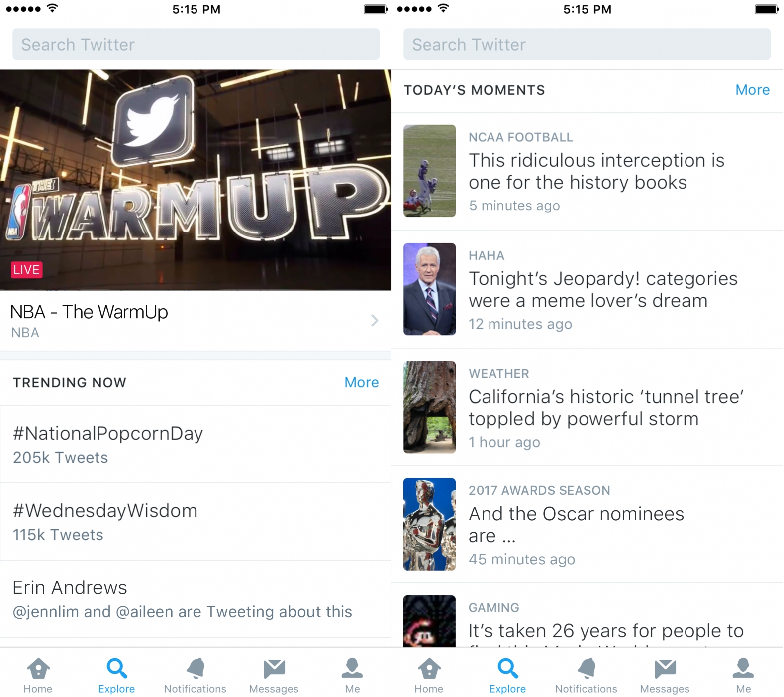 Twitter Launches 'Explore' Tab to Replace 'Moments'