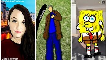 BBC Big Painting Challenge Snapchat