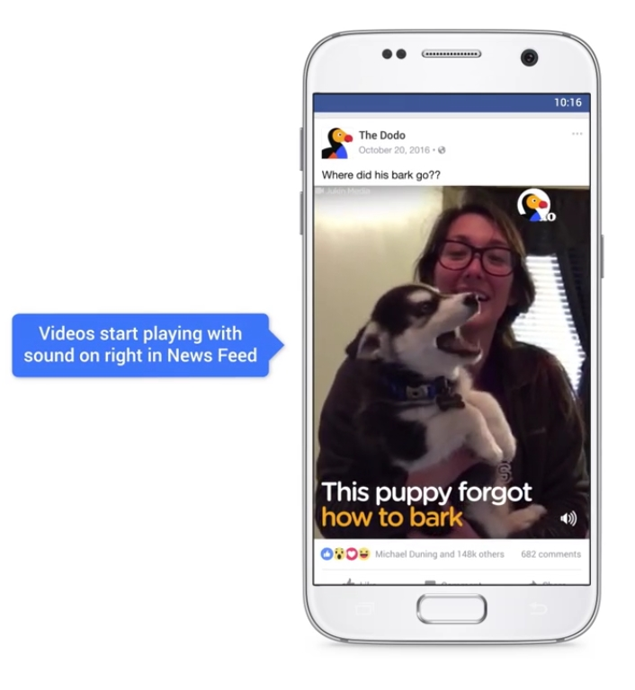Facebook Videos are Going to Automatically Play Sound