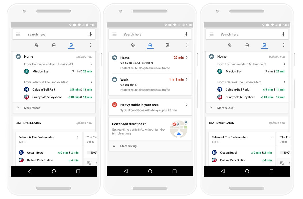 Google Maps Update Provides Real-time Info About Food, Traffic and Transit