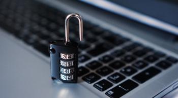 Laptop + Padlock (Security)