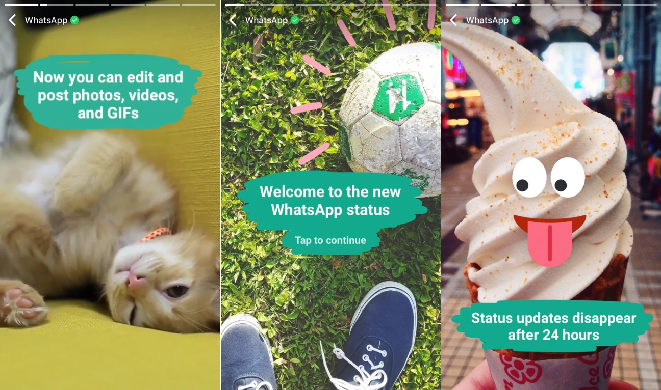 WhatsApp Updates Status Feature to Look Like Snapchat Stories