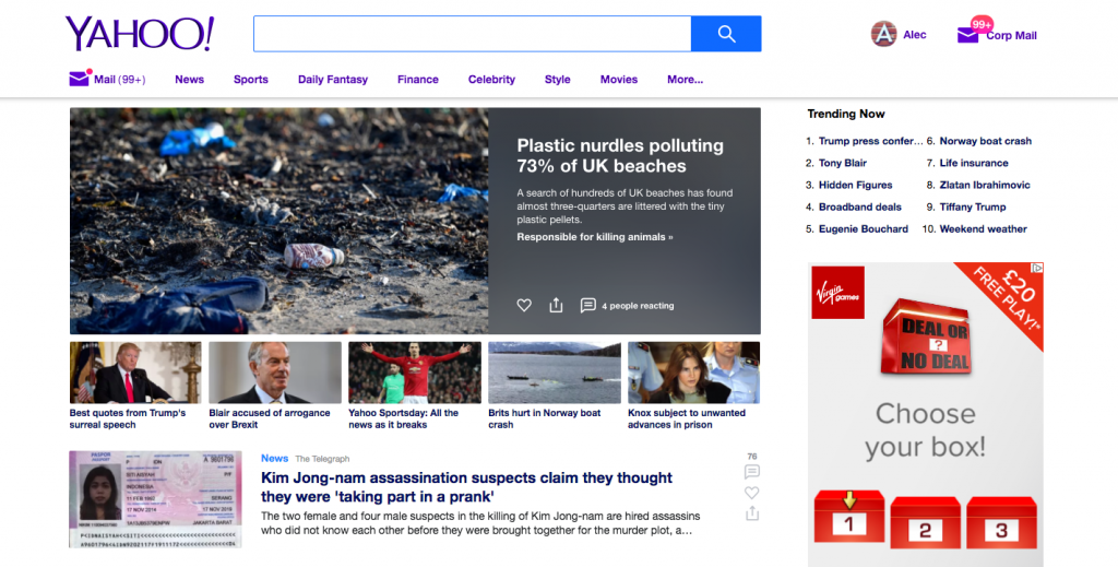Yahoo Pens Global Content Deal with Major UK Publishers