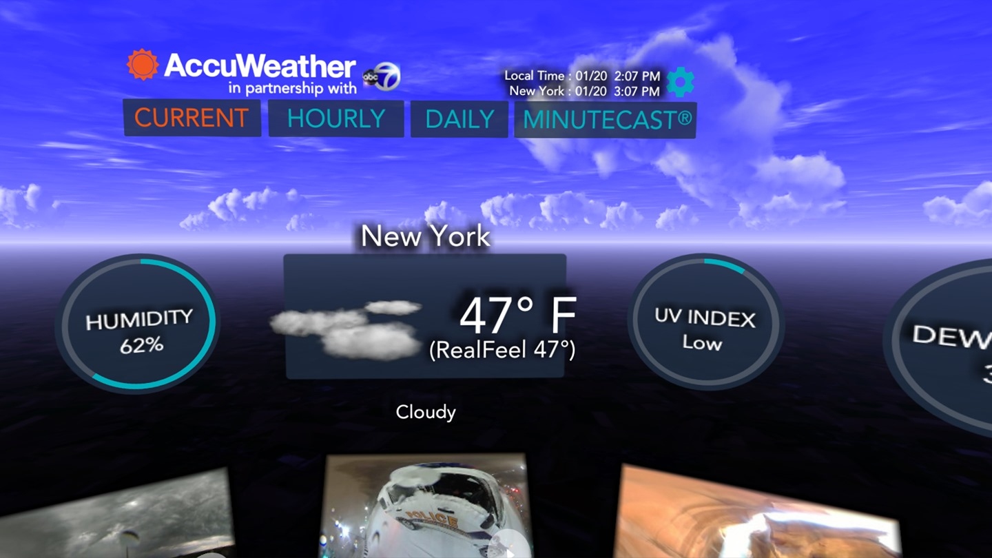 Now a virtual reality app for checking the weather