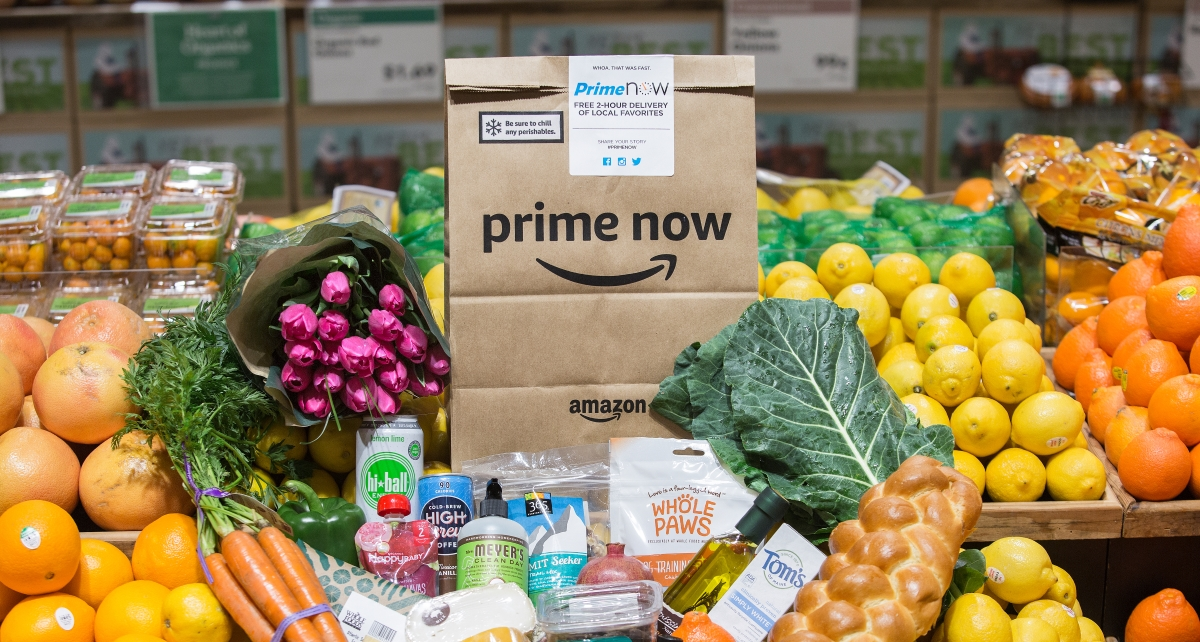 Amazon Prime Now Adds Whole Foods Groceries For Free 2-Hour Delivery