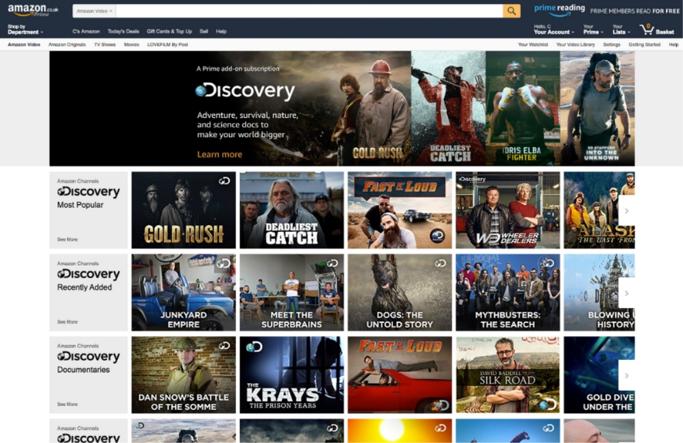 Amazon adds live channels to Prime Video in UK