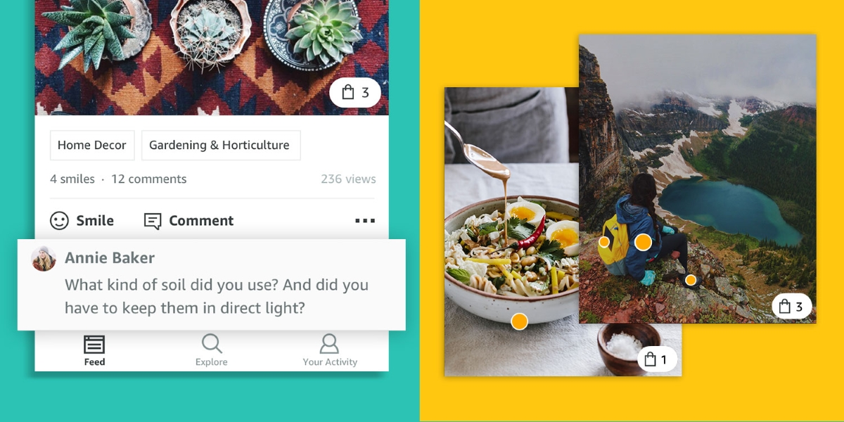 Amazon launches new way to shop, via Instagram-like photo feed