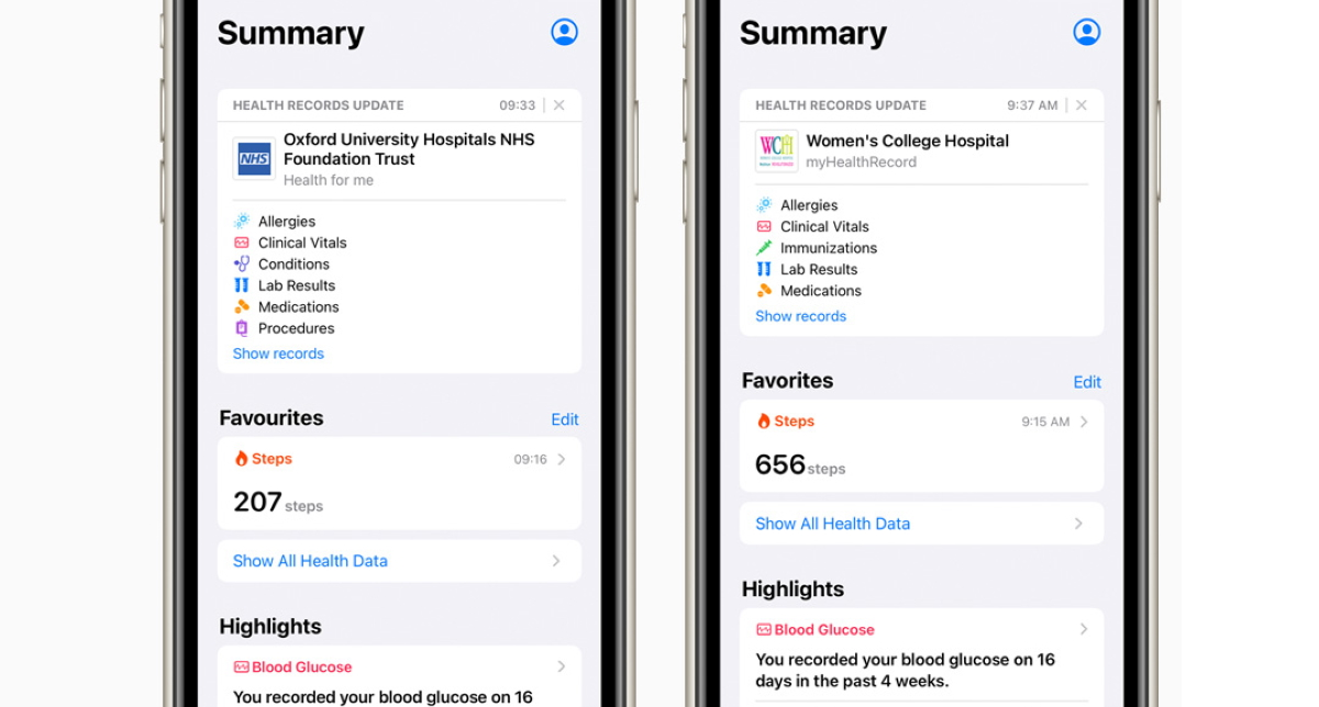 Apple brings Health Records to United Kingdom and Canada