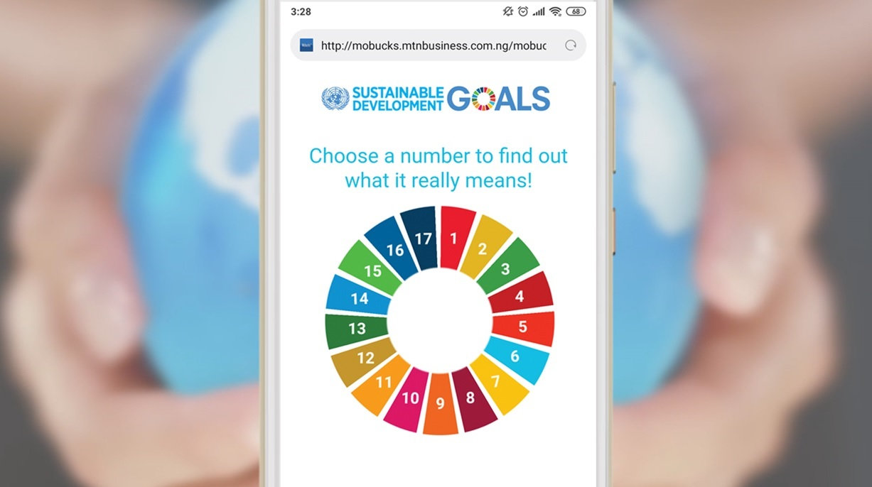 Screenshot of Out There Impact's Sustainable Development Goals campaign