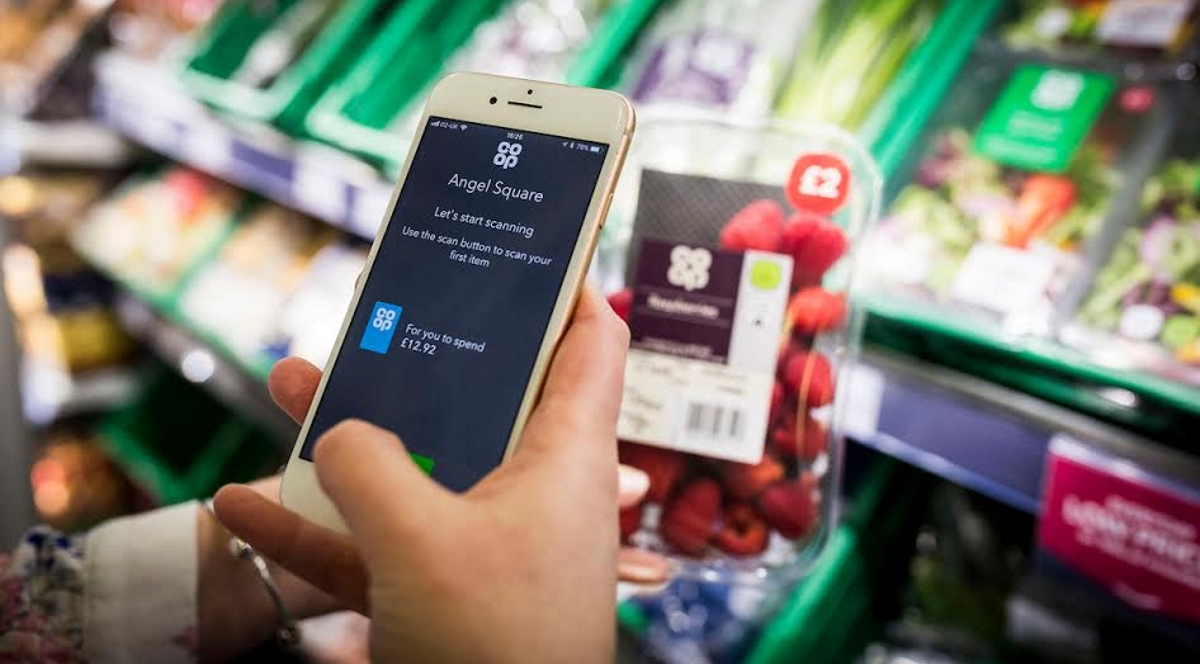 The Co-op tests 'pay in aisle' cashierless technology