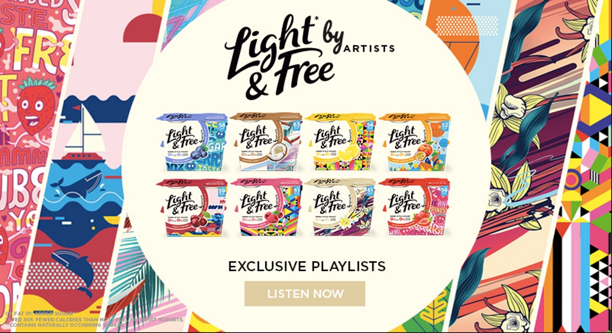 Danone launches campaign with Spotify to promote its yoghurts