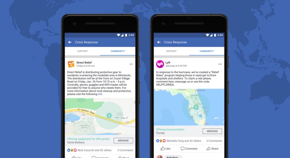 Crisis Response Facebook