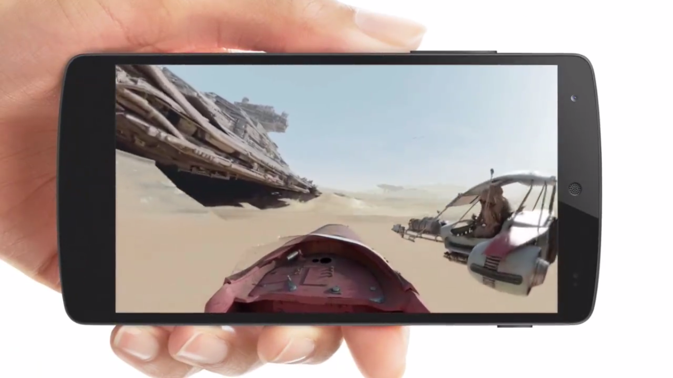 Star Wars mobile video