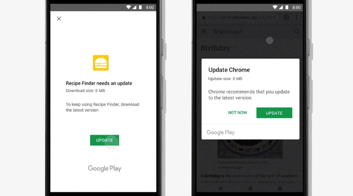 Google Android in-app update