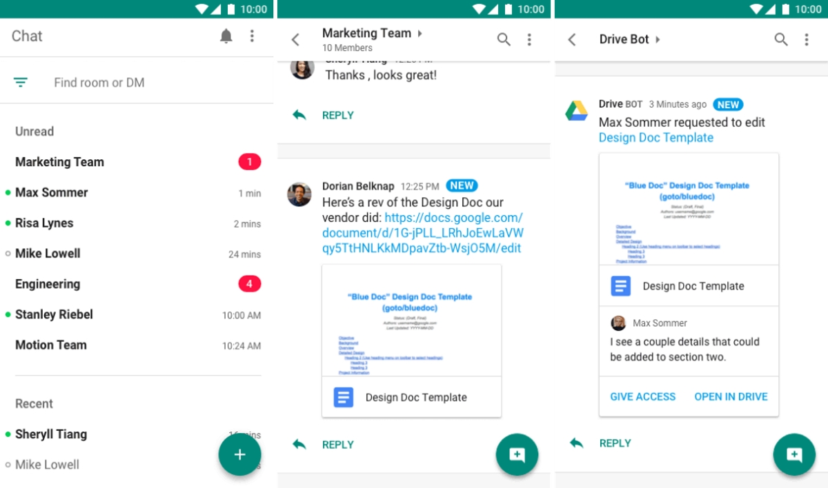Google launches Hangouts Chat to take on Slack