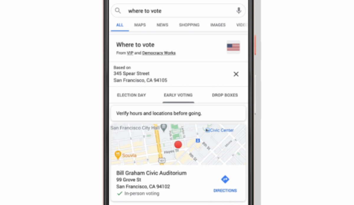 Ahead of the upcoming US election Google has made it easier for voters to find information about how and where to vote via Search and Maps