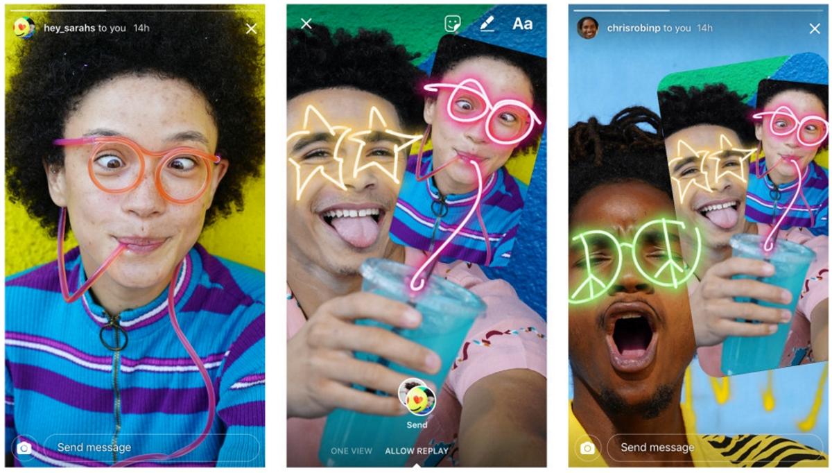 Instagram lets users remix photos sent via direct messages