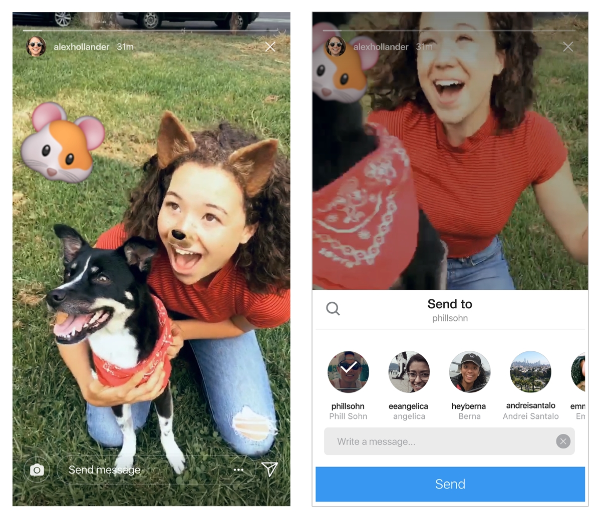 Instagram now lets you share Stories in direct messages