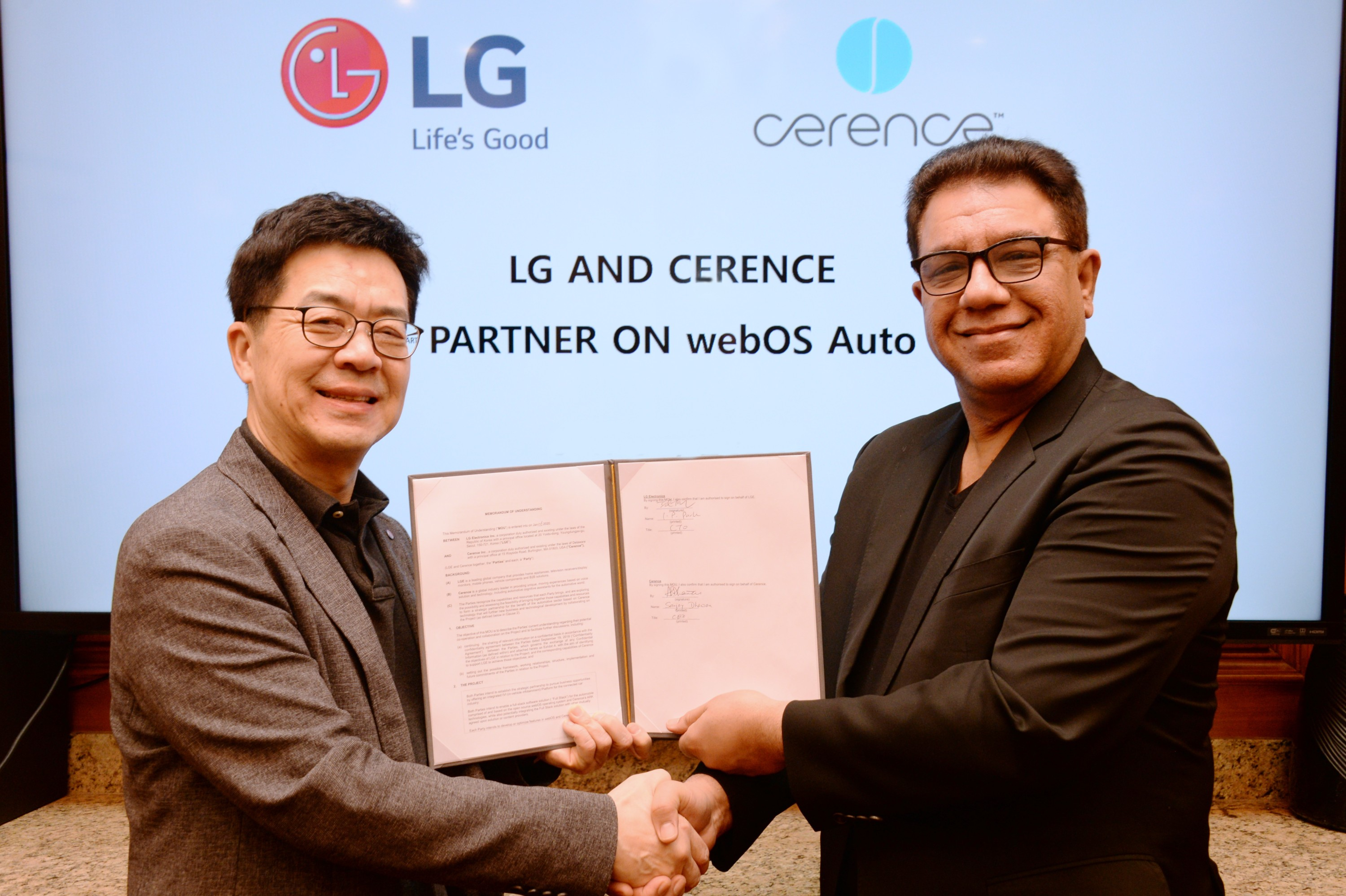 LG Joins Hands with U.S. Firm for In-vehicle Infotainment System