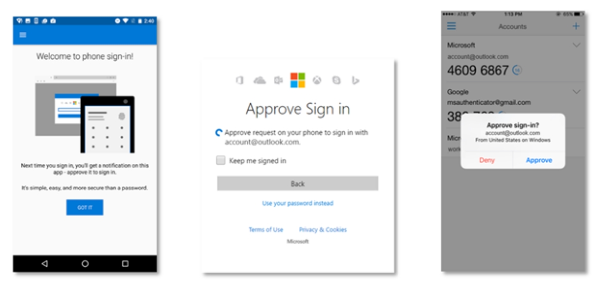 Microsoft phone sign-in