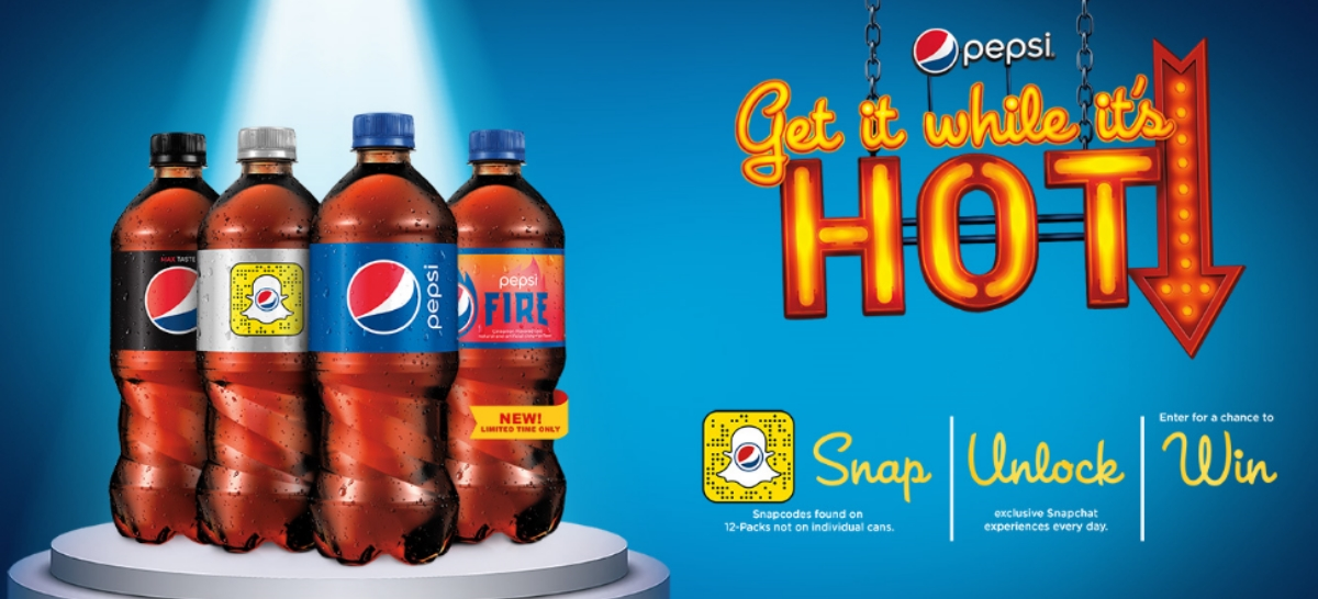 Pepsi wants you to scan and win with Snapchat to celebrate