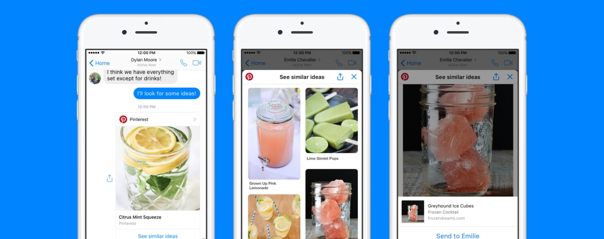 Pinterest introduces chat extension and bot to Facebook