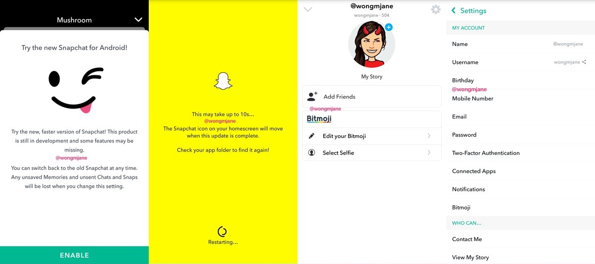 Snapchat's overhauled Android app is here in alpha   Mobile