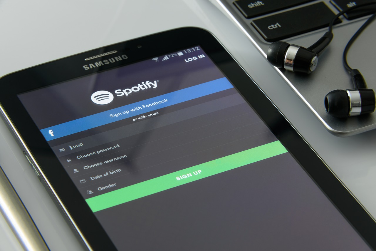 Spotify on tablet