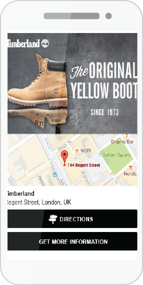 Timberland drives footfall with location campaign through