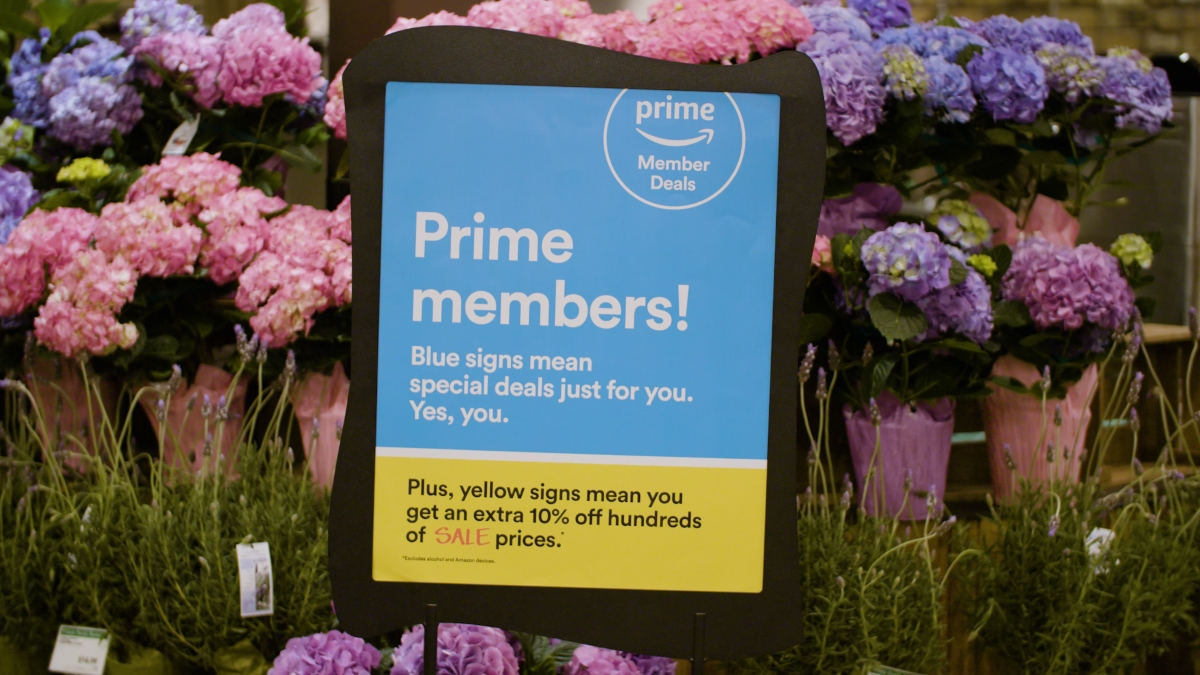 Whole Foods Amazon Prime member deals