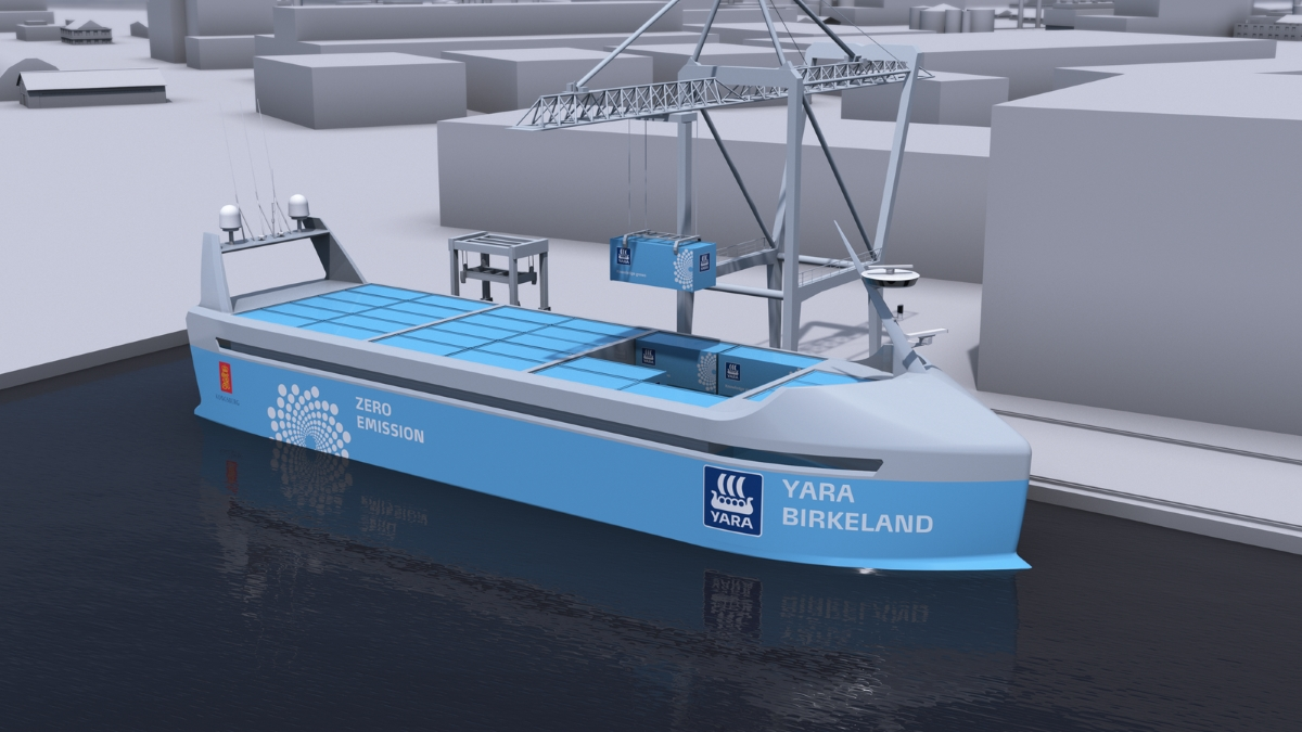 Yara and Kongsberg expect crewless ship to sail fjord by late 2018