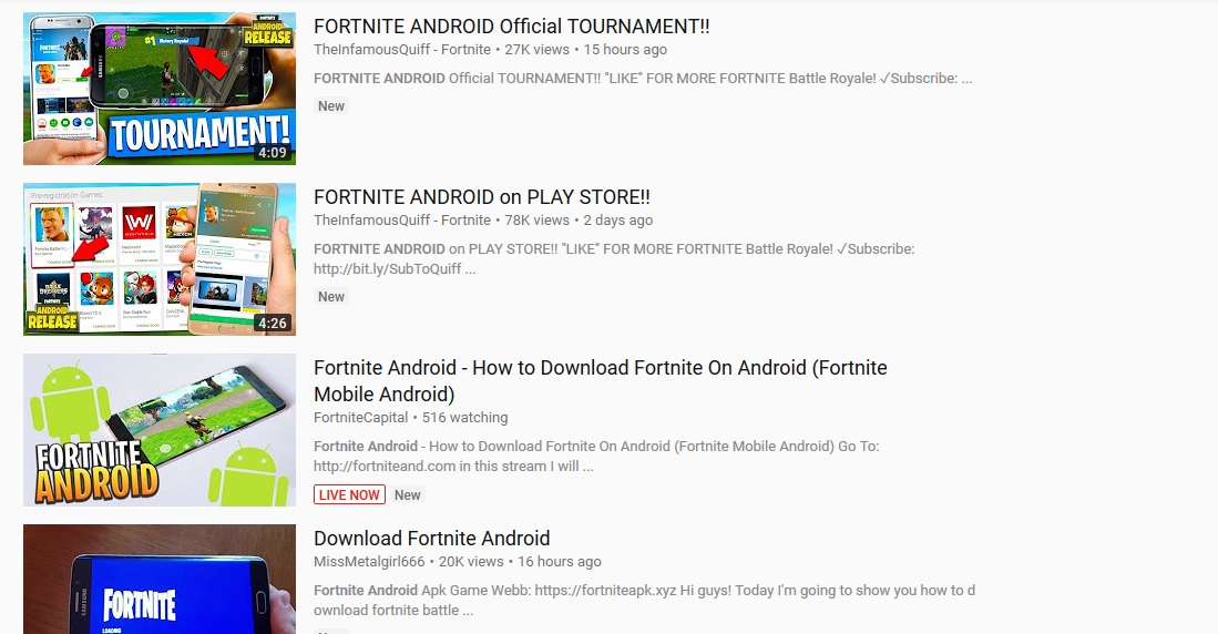 app store download for android fortnite
