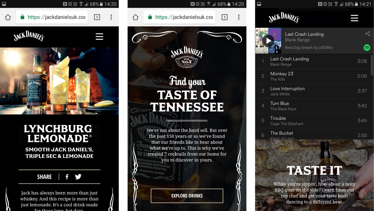 Jack Daniel S Teams With Oath On Microsite For Find Your Taste Of Tennessee Campaign Mobile Marketing Magazine