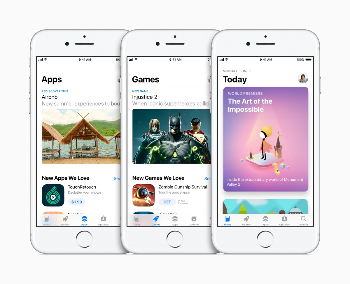Apple iOS 11 App Store redesign