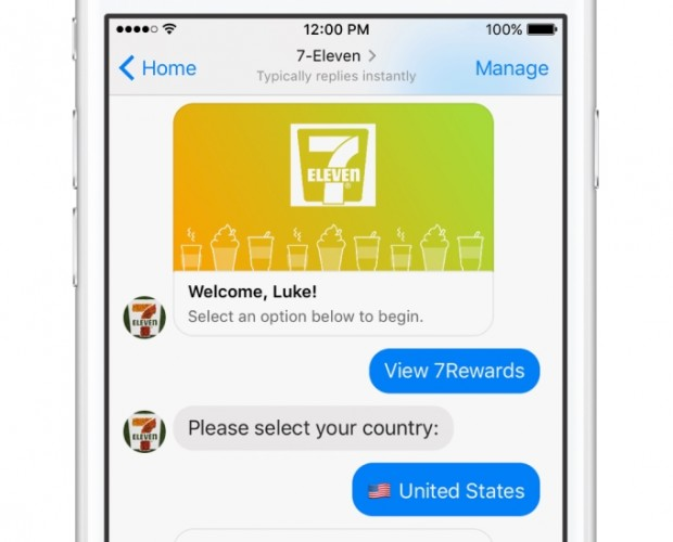 7-Eleven introduces Messenger chatbot