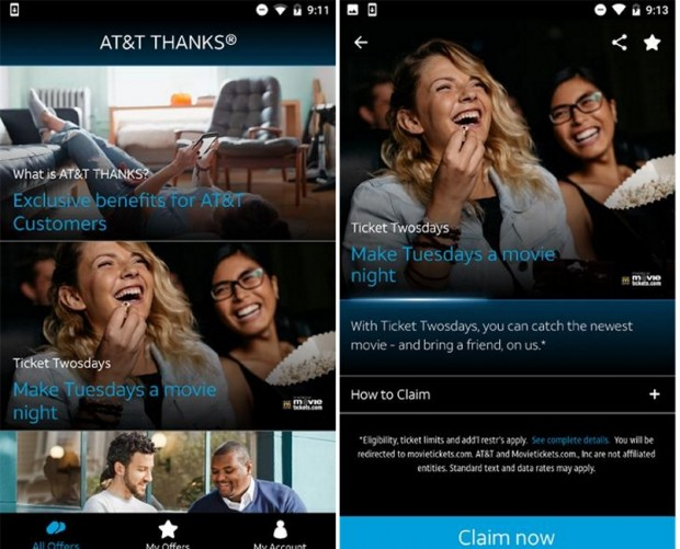 AT&T releases app dedicated to its Thanks rewards program