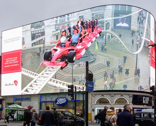 World's largest AR screen in London drives Abu Dhabi tourism campaign