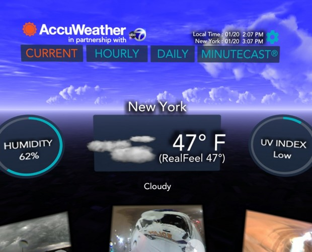 AccuWeather now lets you view the latest weather in VR