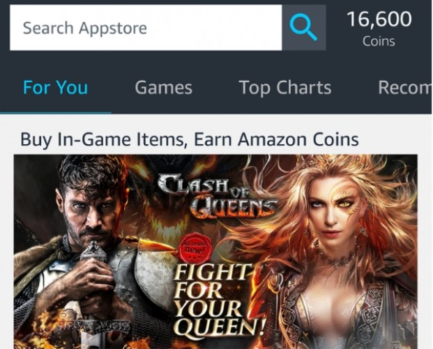 Amazon introduces Appstore mobile app with a focus on Coins