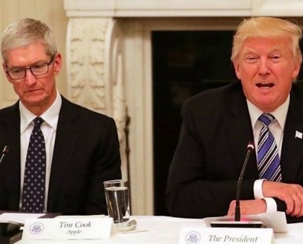 President Trump claims that Apple will build three US manufacturing plants
