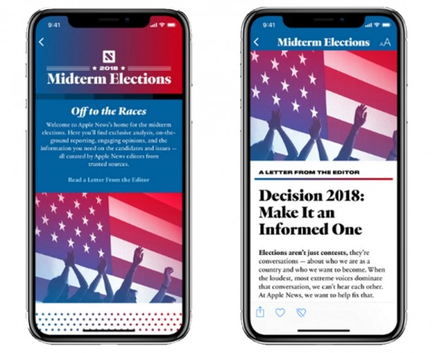 Apple News introduces 'factual' Midterm Elections section