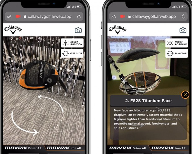 Callaway turns to augmented reality to showcase MAVRIK drivers and irons