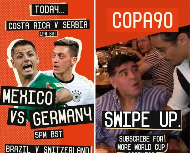 Copa90 links up with Snapchat to connect with young football fans during World Cup