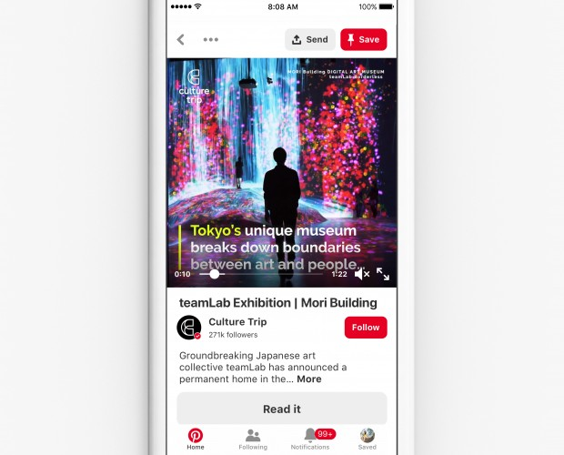 Pinterest reveals new video content features for brands and creators