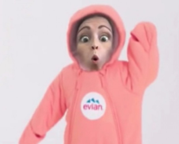 Evian's 'Live Young' Snapchat lens puts your face on a dancing baby