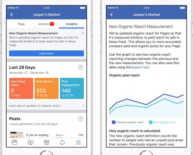 Facebook turns to viewability to measure page reach, updates Insights interface