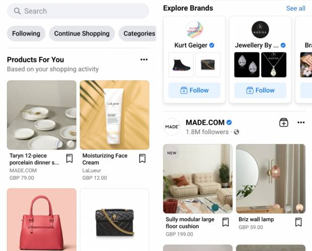 Facebook launches shopping tool in the UK