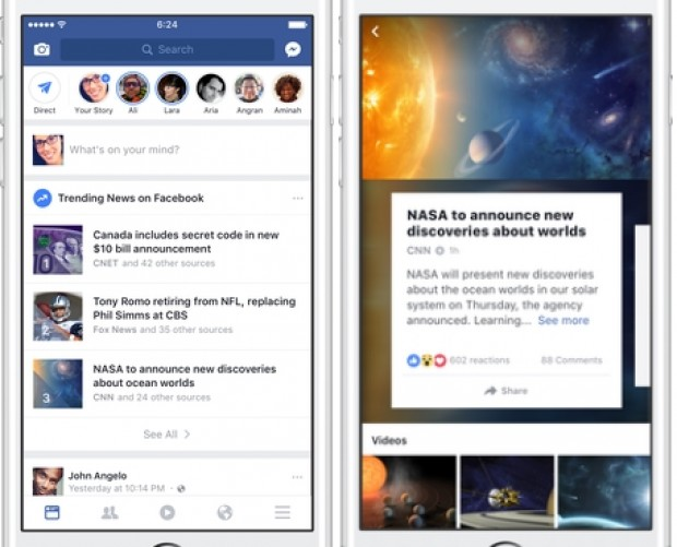 Facebook makes changes to the way users see major news